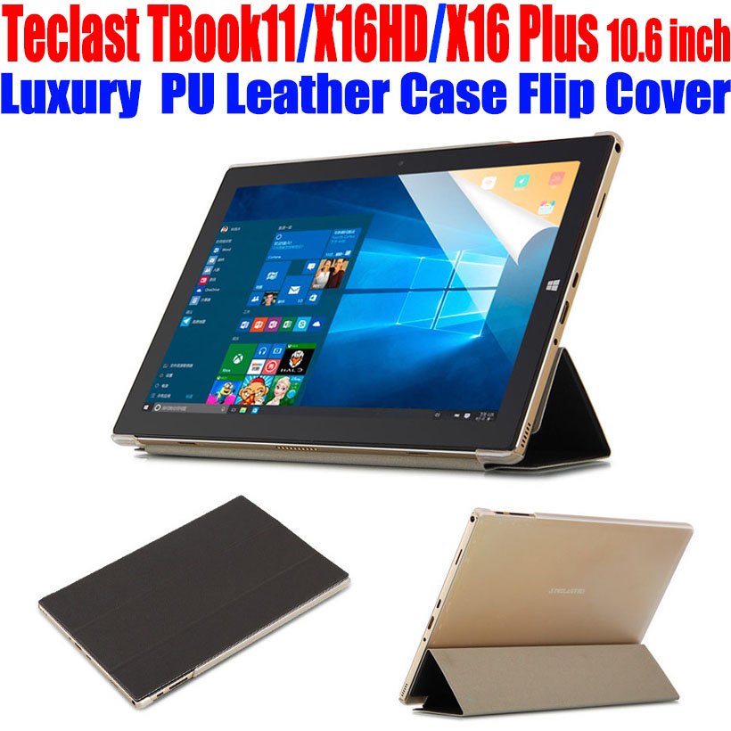 Original Tablet PC Case For Teclast TBook11 X16HD X16 Plus 10.6 inch Crystal Back PU Leather Case Flip cover for TBook 11 TL06(China (Mainland))