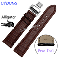 Quality Alligator Leather Watchband 22mm For Pebble Time steel Smart Watch For Mens Luxury Watch