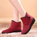 2015 Hot sale  Brand woman winter snow boots waterproof cowsplit thermal short genuine leather wool elevator Girl autumn boots
