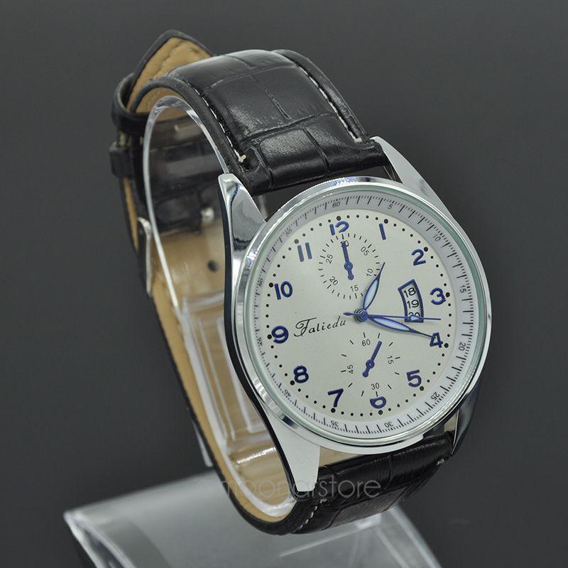Горячая распродажа роскошные мужчины кварцевые часы спорт наручные часы искусственная кожа свободного покроя мужской платье часы relogio часы fympj714