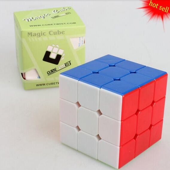 CubeTwist 57mm 3x3x3 color Magic cube , stickerless , solid color cube , educational toy , Magic cube(China (Mainland))