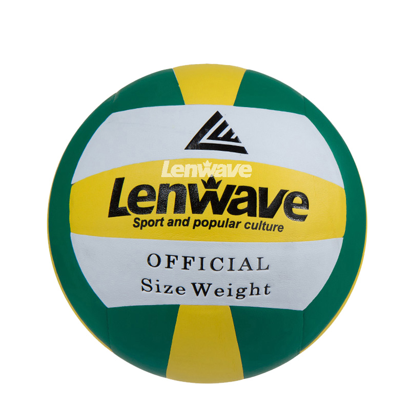 Free Shipping 1 Piece Official Indoor Match Size 5 Volleyball Balls Lenwave Brand Tackiness PVC Volleyball(China (Mainland))