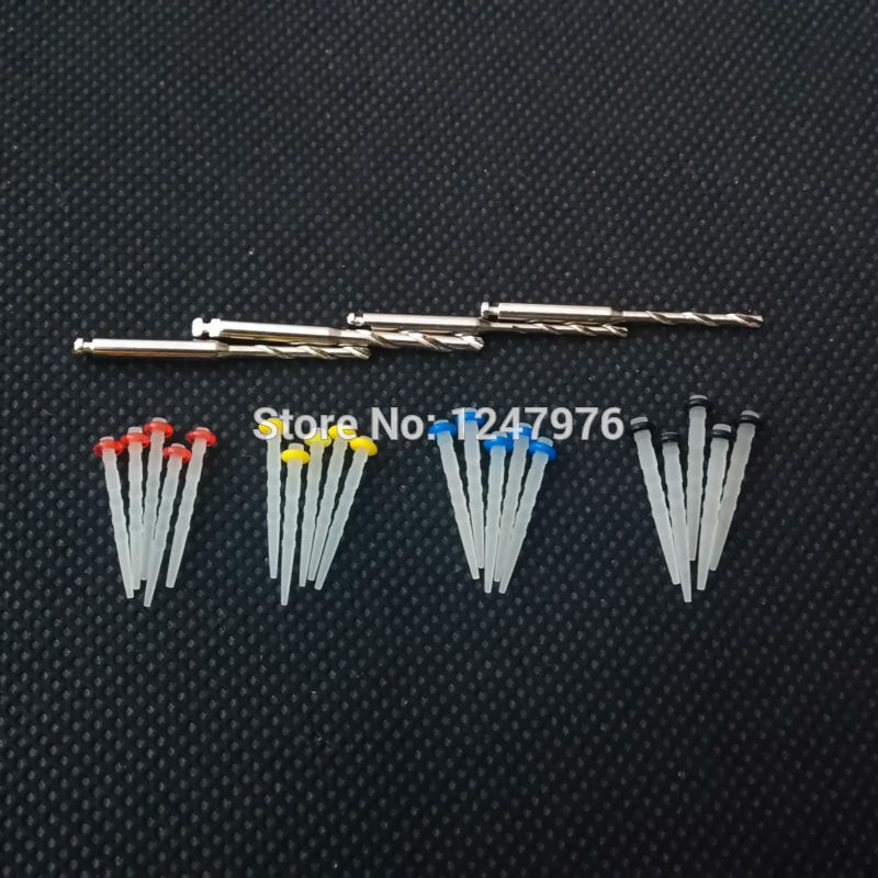 2015 New Dental Promotion Fiber Resin Post & 4-Drill Screw Thread Quartz wholesale sale(China (Mainland))