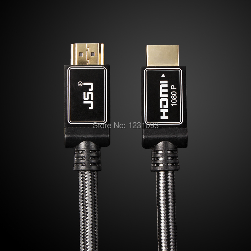 JSJ New Premium 10FT 3M HDMI Cable Gold Plated V1.4 HD liquid crystal television 1080P w/ Nets for PS3 Ethernet 3D Ready 3meters(China (Mainland))