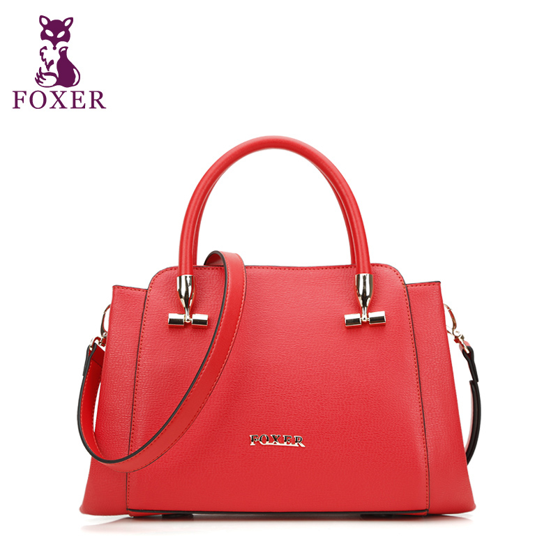 Здесь можно купить  FOXER 2016 new genuine leather women bag fashion quality Elegant wild women Luxury handbags shoulder messenger cowhide bag  Камера и Сумки