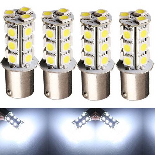 Гаджет  4pcs Car Auto Pure White 1156 BA15S 18 LED 5050 SMD Turn Signal Light Bulb Lamp None Автомобили и Мотоциклы