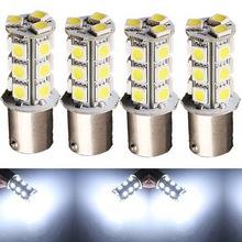 4pcs Car Auto Pure White 1156 BA15S 18 LED 5050 SMD Turn Signal Light Bulb Lamp