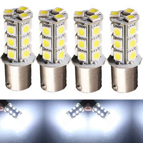 4pcs Car Auto Pure White 1156 BA15S 18 LED 5050 SMD Turn Signal Light Bulb Lamp(China (Mainland))