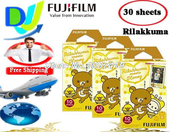 Fujifilm Instax Mini Film 3 pack (30 sheets) Rilakkuma bear edge polaroid Instant Photo Camera mini 7S 8 25 50S 90s Films