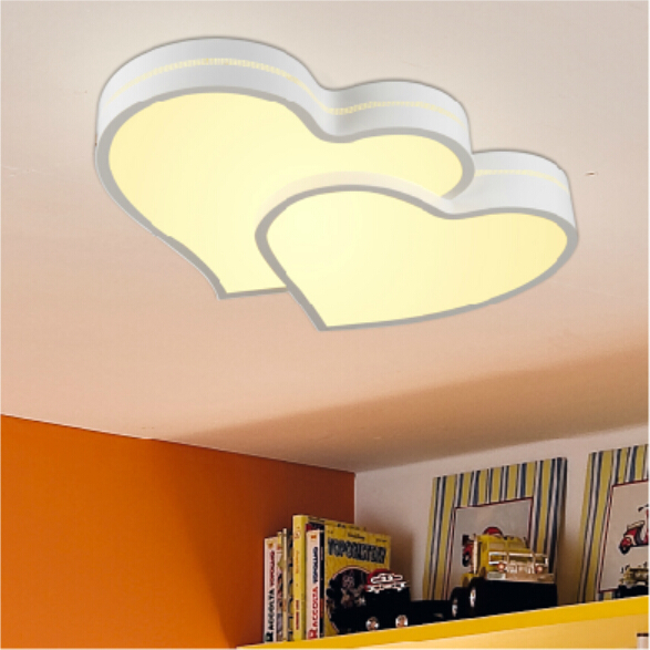 children's room Ceiling lights girl or boy bedroom lamps led two heart lamps(China (Mainland))