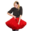 Fashion Extra Girl Pleated Skirts Fluffy Women Adult Pettiskirt Ribbon Bow Tutu Tiered Skirt Multilayer Soft