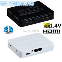 HDMI Splitter 2 Port Hub Box Auto Switch 3 In 1 Out Switcher 3D 1080p HD 1.4V (China (Mainland))