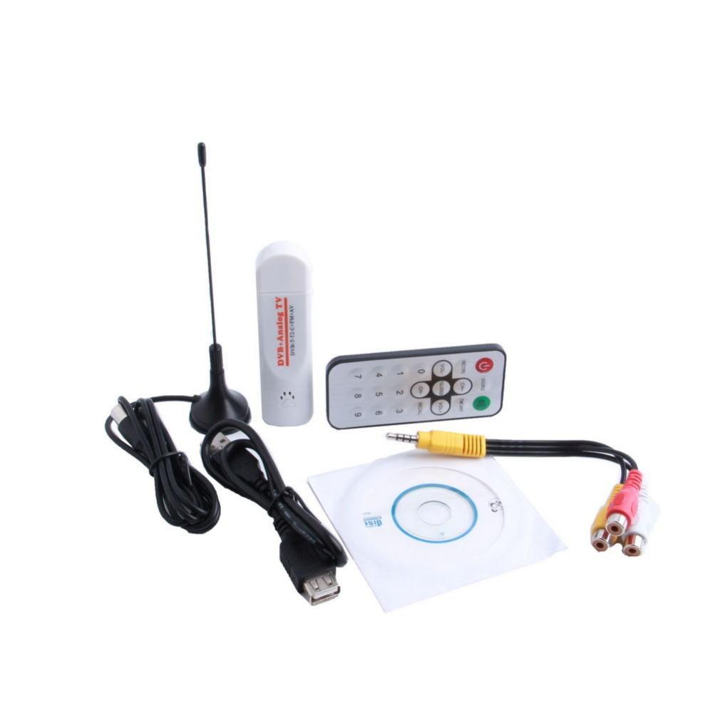 Mini Digital USB 2.0 Analog Signal TV Stick Box Worldwide TV Tuner Receiver FM Radio with Remote Control for PC Laptop(China (Mainland))