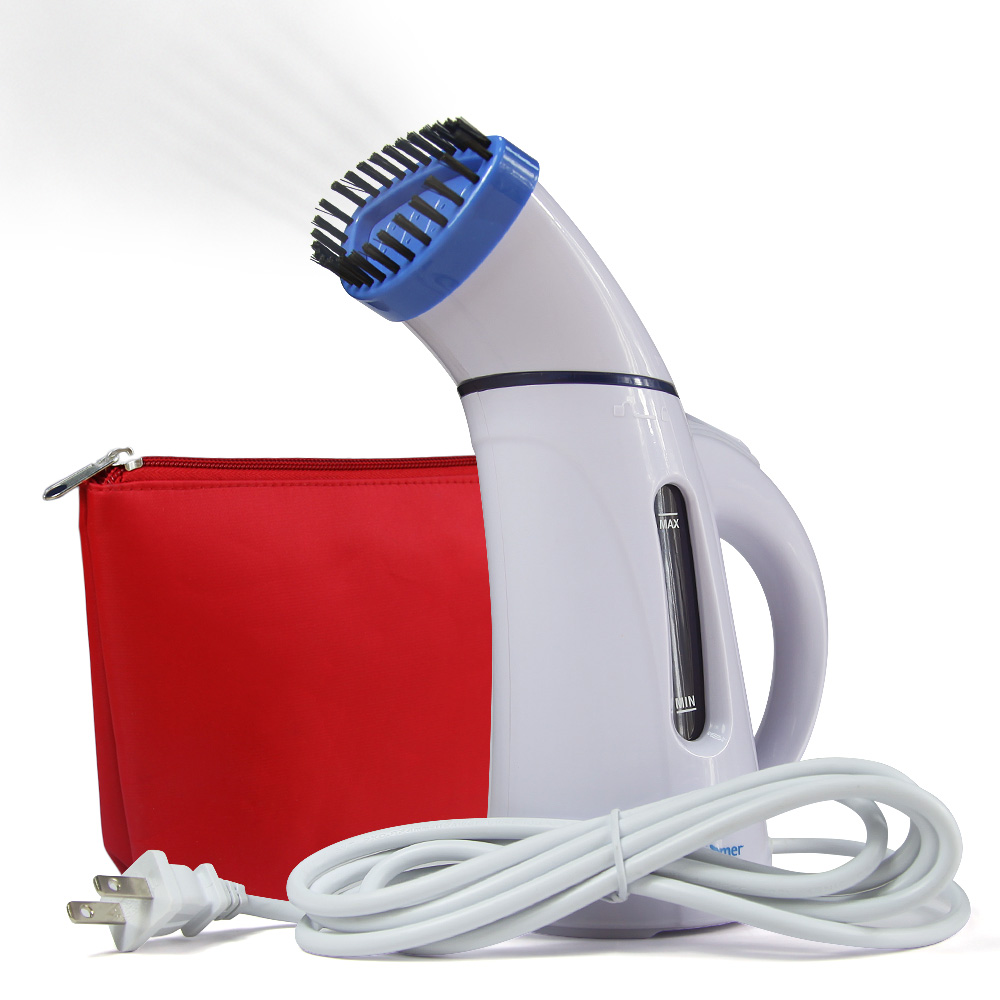 Blue 150ML Portable Fabric Steam Cleaner Mini Travel Garment Steamer Handheld Steamer brush with Zipper Waterproof Steaming Face(China (Mainland))