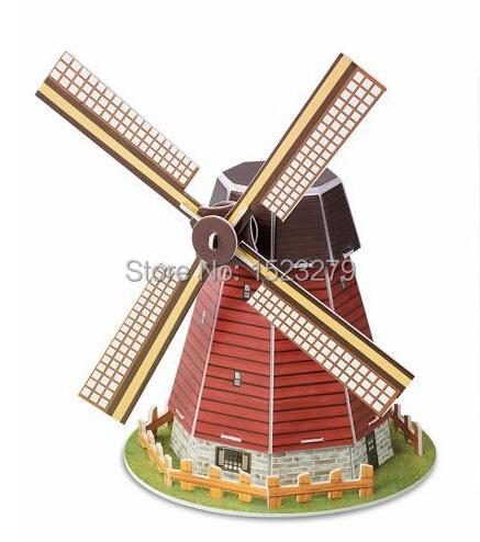 2015 New 3PCS/lot classic different famous buildings 3D puzzle Diy puzzle hand assemble toys for kids mini building model(China (Mainland))