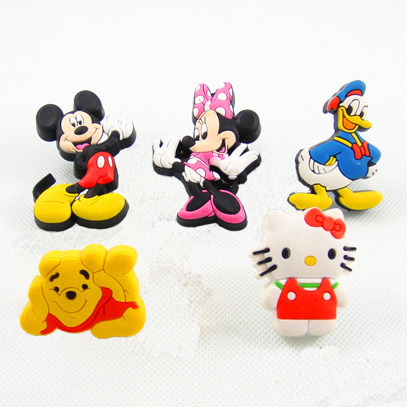 5PCS cartoon children room Furniture knobs Soft Rubber kids protection drawer cabinet wardrobe handles pulls(China (Mainland))