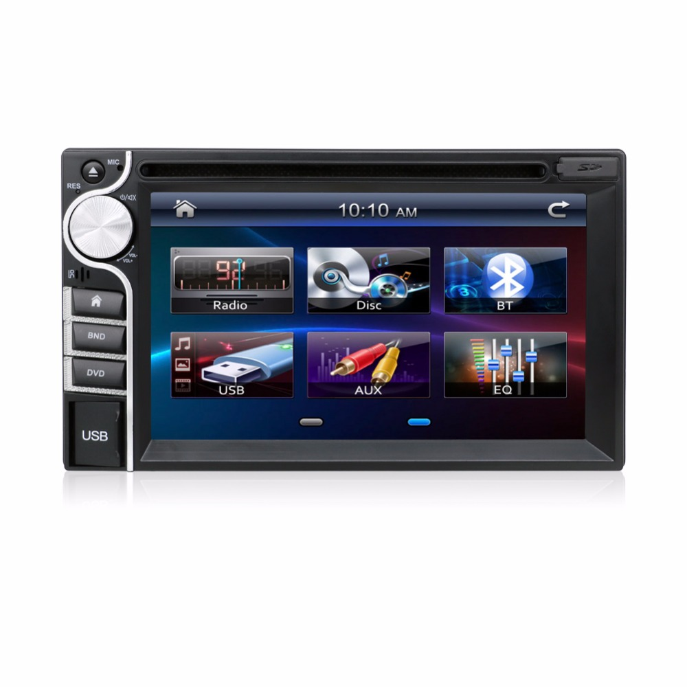 """dvd automotivo Touch Screen Car DVD Player 2 Din 6.2"""" USB Bluetooth FM 2 Din IN-DASH Stereo Radio Bluetooth USB/SD Without GPS(China (Mainland))"""