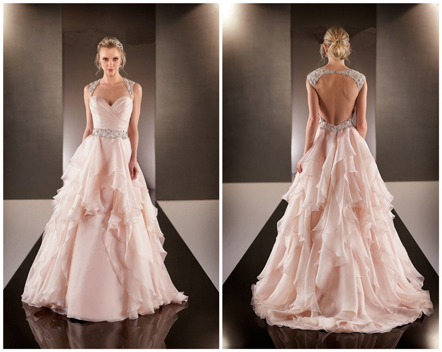 Rose Colored Wedding Dresses Images
