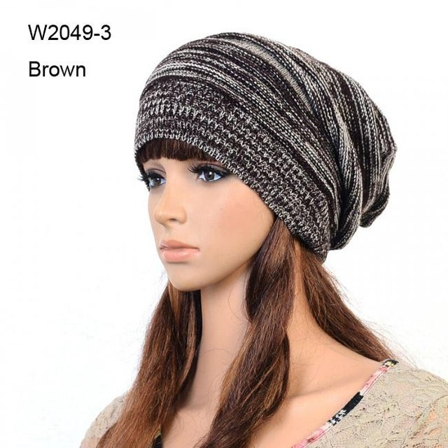 72pcs/Lot Mens Knitted Slouch Crochet Beanies Hat ...