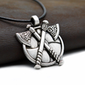 10pcs Medieval Viking Warrior Jewelry Norse Viking Axes Pendant Necklace For Men s Punk Necklace Gift