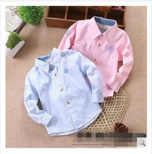 High quality Spring 2015 new children's clothing Boys  cotton long-sleeve shirt Children Europe and America style casual shirts