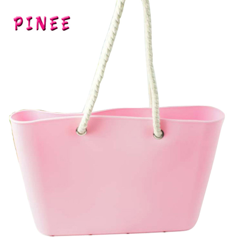 2015 New Designer Handbag High Quality silicone bag Ladies Larger Shoulder Bags Cute Candy colors Hand Bag Free Shipping(China (Mainland))