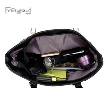 2016 European And American Fashion High Capacity Weave Women Leather Handbag High Quality Messenger Black 6