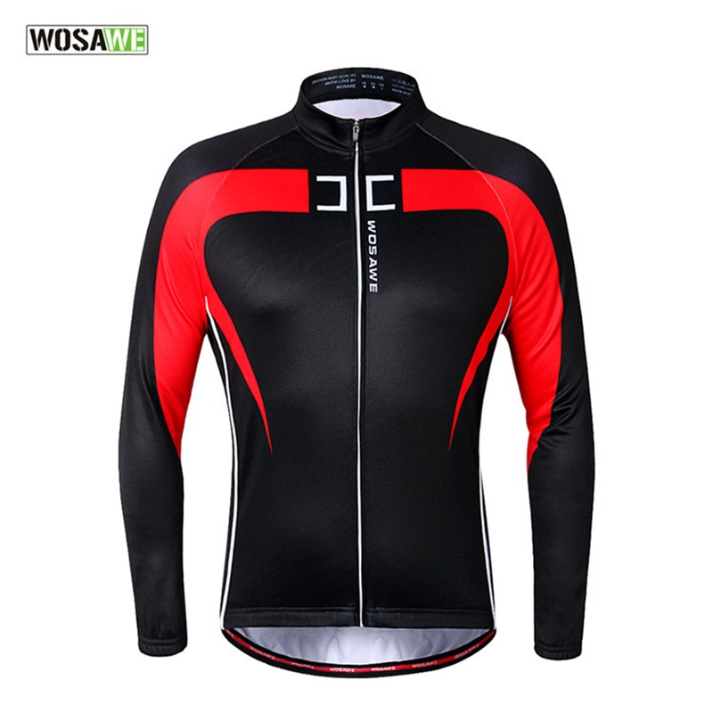 WOSAWE 2016 Mens 2014 Winter Thermal Fleece Cycling Jersey Long Sleeve Tour De France Jacket Clothing Bike Ciclismo Invierno<br><br>Aliexpress