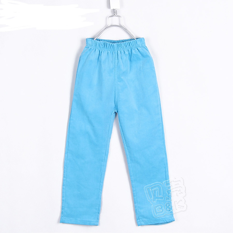 2015 autumn and winter all-match boys clothing girls clothing child corduroy long trousers elastic pants A0627(China (Mainland))