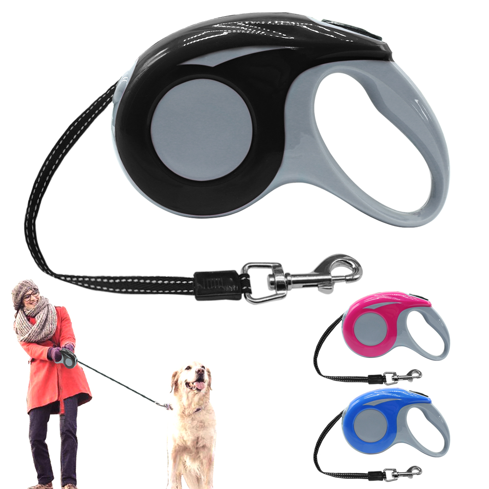 3M 5M Retractable Dog Leash Automatic Dogs Leads Extending Puppy Walking Nylon Leashes Small Medium Breeds