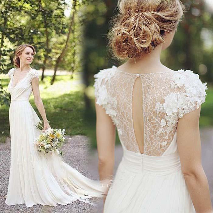 Achetez en Gros courte robe de mariée en mousseline de soie en Ligne ...
