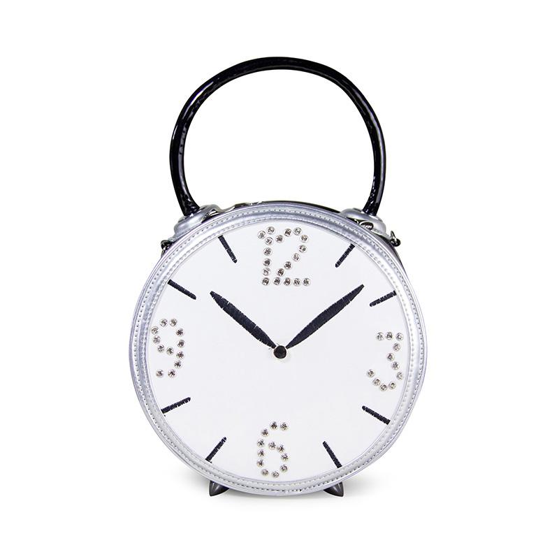 Braccialini Style Handmade Paste Drill Alarm Clock Models Round Tote Bag Creative Fashion Womens Aj Bag Bolsos de Marcas <br><br>Aliexpress