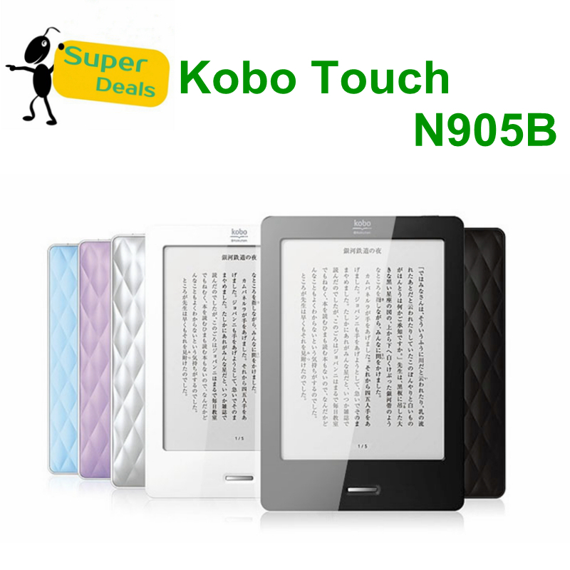 """New arrival 6"""" Kobo Touch N905B 2GB WiFi Ink Ebook,6 Inch PDF E-ink Ereader,No TAX Free Ship,RU,By Singapore Post,In Stock(China (Mainland))"""