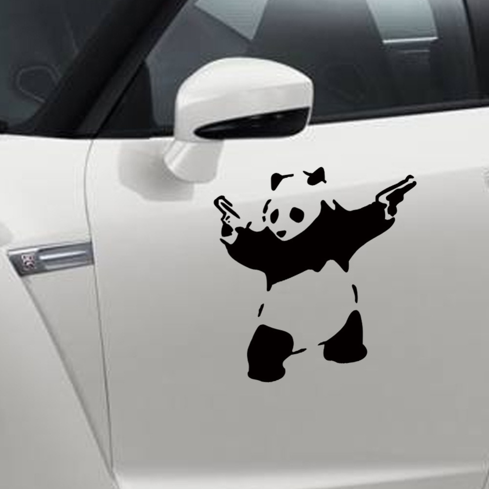 New car sticker design - Car Styling Outdoor Sports Panda Car Stickers New Kung Fu Panda Creative Stickers Trumpet China