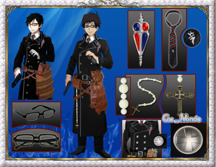 Free Shipping Custom Made Ao No Exorcist Okumura Yukio  Anime Cosplay Amaimon Fullset Costume