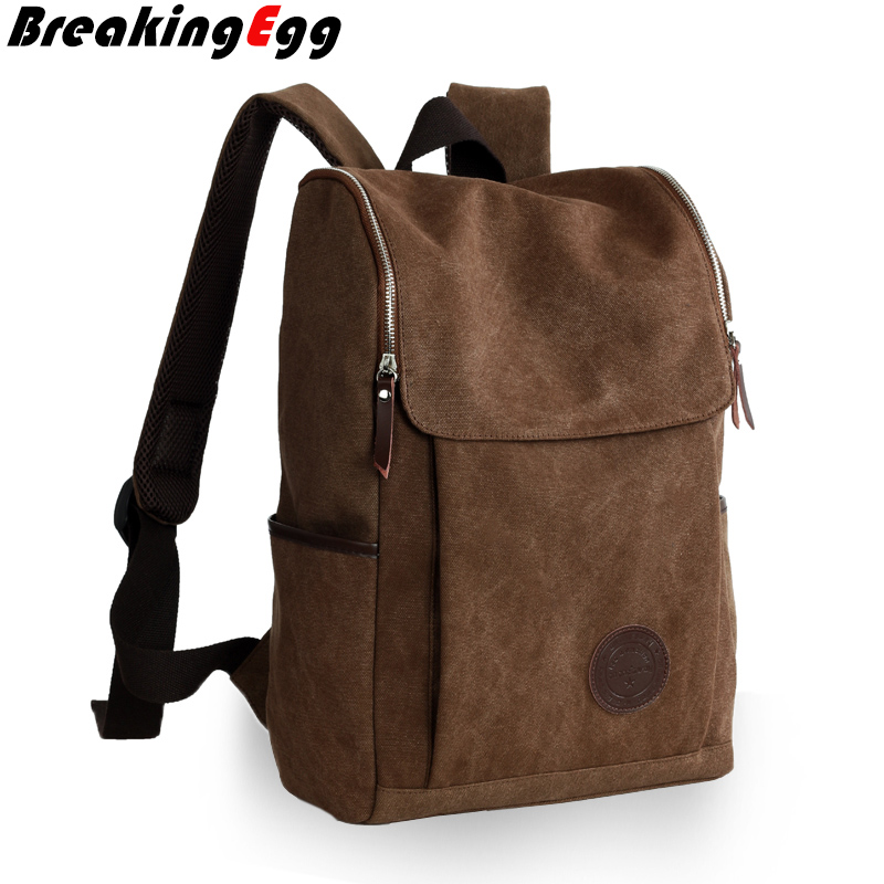 Canvas School book bag men laptop bag canvas backpack student packsack knapsack day pack Travel sport bag TD-BB402<br><br>Aliexpress