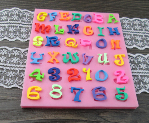 Cake Decorations Letters And Numbers : Aliexpress.com : Buy Letters and numbers fondant silicone ...