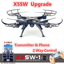 Buy X5SW X5SW-1 FPV Drone X5C Upgrade WiFi Camera Real Time Video RC Quadcopter 2.4G 6-Axis Quadrocopter Vs H37 H31 X101 X8W X8HW for $42.21 in AliExpress store