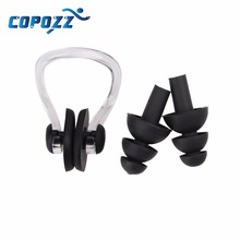 High Quality Soft Swim waterproof Silicone Earplug nose clip set Surf Swimming  Pool Accessories Waterproof adult diving Soft(China (Mainland))