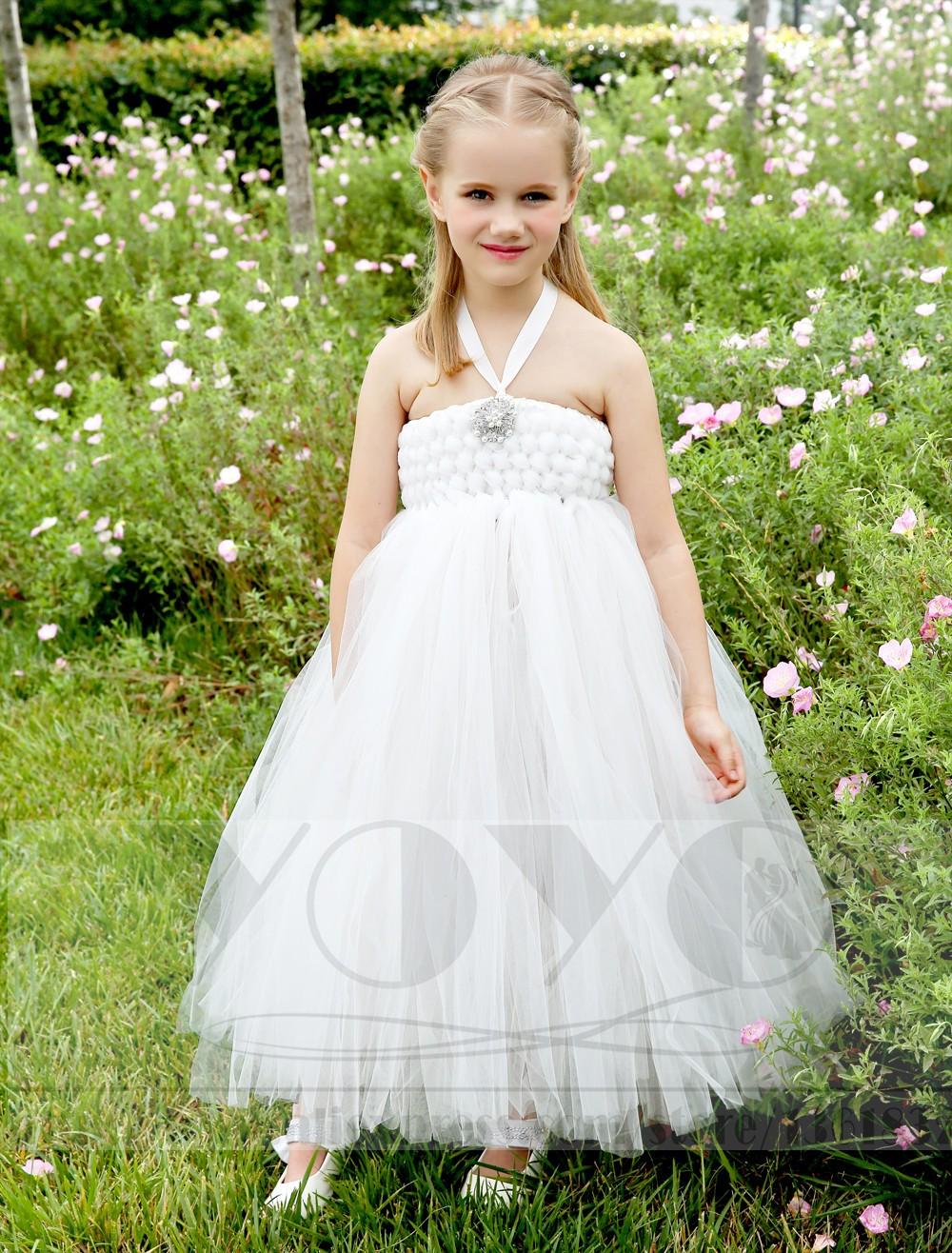 Скидки на Мода Кот маленькие девочки платья со стразами элегантный дети девушки Театрализованное Платье формальный свадебные платья девушки цветка