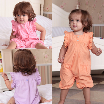 Female baby clothes baby clothes summer 6 - 12 months old baby clothes 100% cotton baby clothes bodysuit