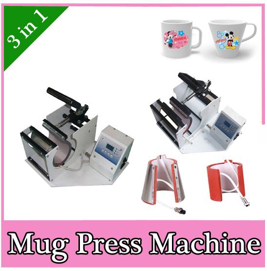 Cup mug sublimation heat press machine.Combined Mug Press 3 in 1 DX-023(China (Mainland))