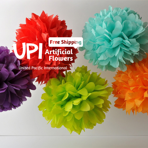 Wholesale 8 inch Handmade 20 colors Wedding Paper Flowers Ball Pom Poms For Wedding & Home Decoration(China (Mainland))