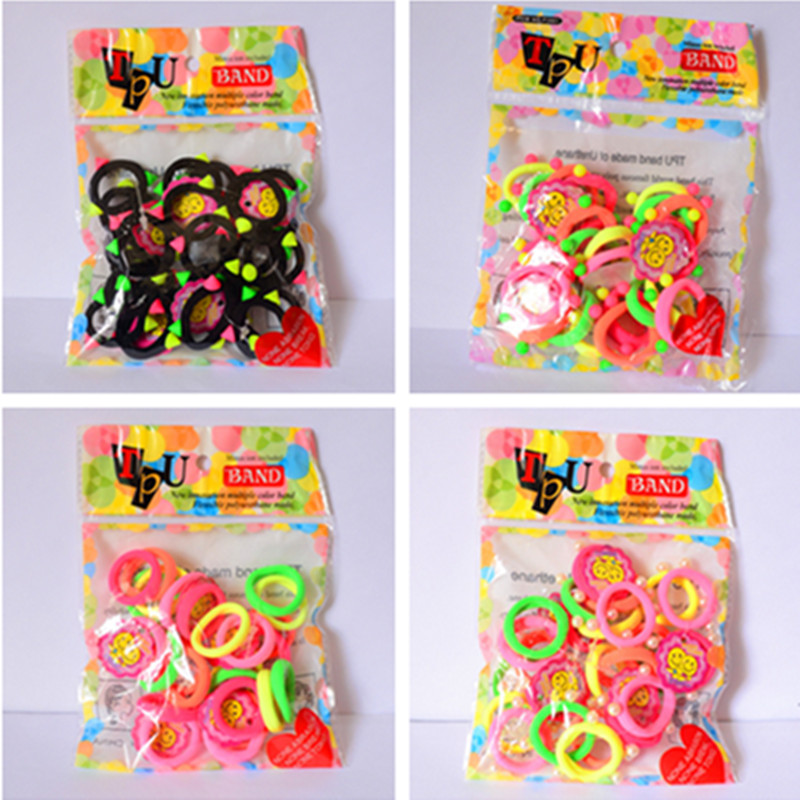 25 Pcs/Pack Candy Color Baby Girls' Hair ties Ropes Kids Hair Accessories(China (Mainland))