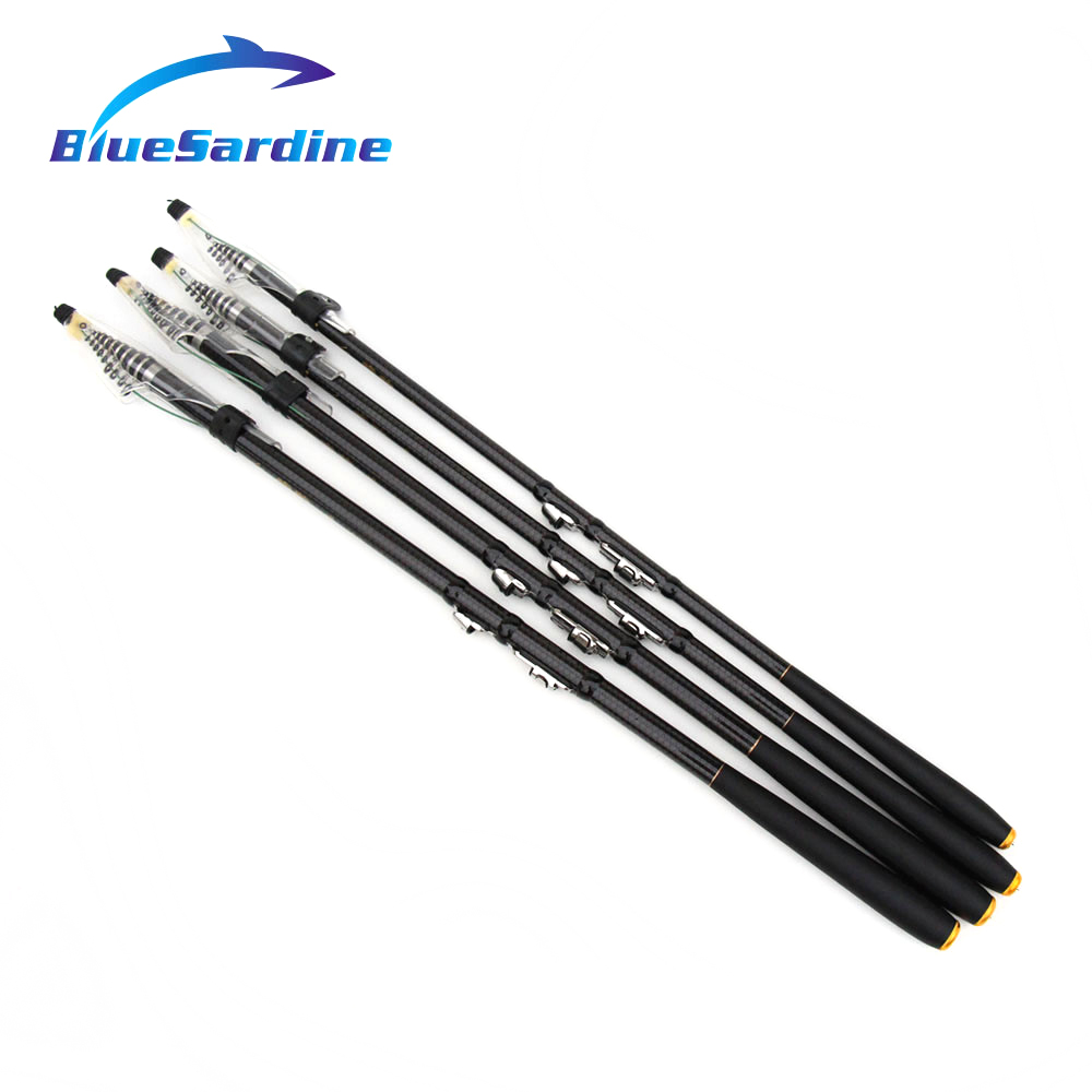 Quality Telescopic Fishing Rod Carbon Spinning Rod Carp Fishing Tackle Pesca New 3.6M 4.5M 5.4M(China (Mainland))