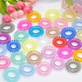10 pcs fashion telephone wire elastic Silicone rubber bands springs Gum for hair hairband hair accessories