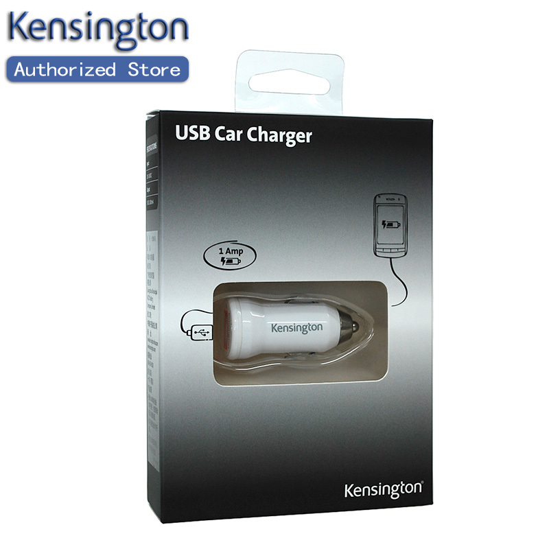 Kensington Original Mobile Phone USB Car Charger CE/FCC/RoHS for iPhone/Most Cellphone/Tablet(bullet shape) Free Shipping(China (Mainland))