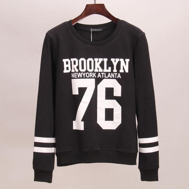 Sakura hoodies sweatshirt Женщины BROOKLYN 76 printed hoodie tracksuits sport suit ...
