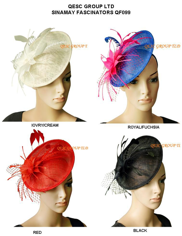 NEW ARRIVAL.Sinamay fascinator hat with feather flower for kentucky derby wedding party.4 colors.(China (Mainland))