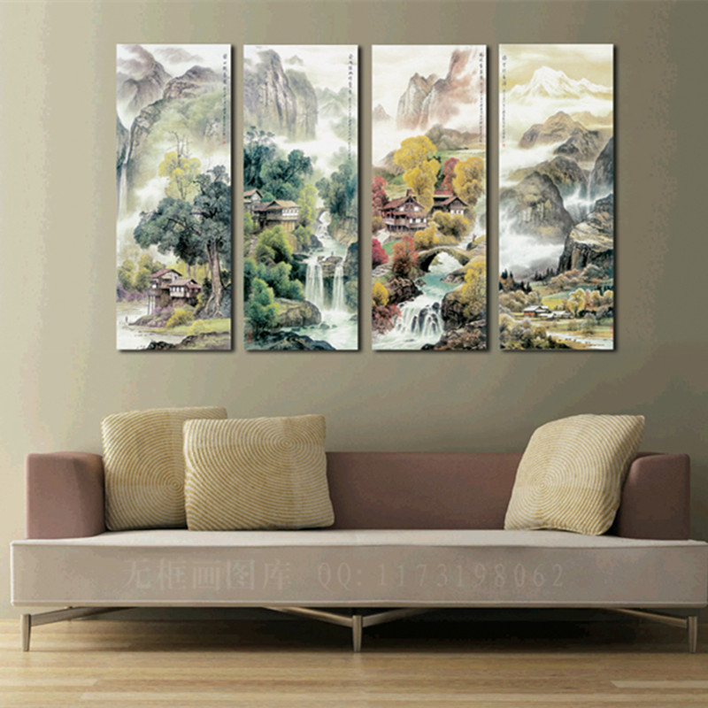 Large 4 piece canvas art cheap modern wall panel decor 4 for 4 home decor